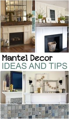 Mantel Decor Ideas and Tips. Great home decor ideas for decorating your mantel.