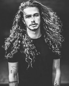 long curly hair for men / long hair inspiration / long natural hair / curly hair on men / rizos / cabelo cacheado masculino / cabelo masculino longo, click now for more. Hair And Beard Styles, Curly Hair Styles, Natural Hair Styles, Updo Styles, Long Natural Hair, Natural Curls, Long Curls, Curly Hair Men, Long Haired Men