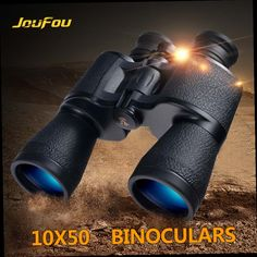42.69$  Buy here - http://alip3f.worldwells.pw/go.php?t=32693010623 - JouFou 10X50 Binoculars Hunting High Power HD No Night Vision Optical Wide Angle Field of View for Hunting Camping 42.69$