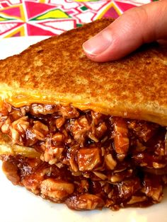 This BBQ chicken grilled cheese is amazing! Crispy golden brown bread on the outside, gooey oozing cheese and dripping BBQ chicken on the inside - open your mouth wide and take it all in! This BBQ chicken grilled cheese sandwich is the king of all grilled cheeses! This sloppy stuff gets devoured like there is no tomorrow! Making this grilled cheese is super easy, it takes a total of 15 minutes if you have the cooked chicken on hand. It's a perfect way to use up leftover chicken or a R...