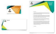Fitness Trainer Business Card & Letterhead Template by @StockLayouts