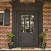 Garage Door Colors With Red Brick House New Ideas Garage Door Colors, Garage Door Windows, Best Garage Doors, Glass Garage Door, Front Door Colors, Sliding Glass Door, Colonial Front Door, Green Front Doors, Garage Door Makeover