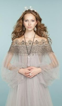 Embroidered tulle dress from Marchesa