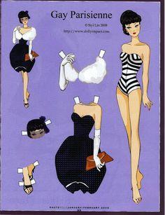 (¯`'•.ೋ…       Robert Best- Fashion Designer for Barbie.............barbie gay parisienne paper doll