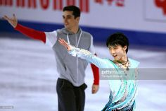 Yuzuru Hanyu of Japan applauds fans at an exhibiton gala on day 4 of the ISU Junior & Senior Grand Prix of Figure Skating Final at the Barcelona International Convention Centre on December 13, 2015 in Barcelona, Spain.