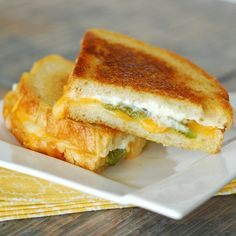 Jalapeno Popper Grilled Cheese Sandwiches. For the day I'm ready to waste several hundred extra calories on one sandwich.