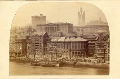Century wet plate image of Newcastle Quayside Old Pictures, Old Photos, Vintage Photos, Newcastle Quayside, Durham City, North East England, Old Photographs, Places Of Interest, Historical Pictures