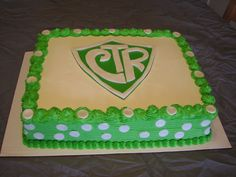 CTR cake for a baptism or primary activity. Or, you could make a cookie cake instead. (Square or round)