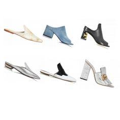 #Scarpe di tendenza per la primavera/estate 2017. #mules #sabot #shoes #trends
