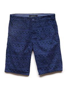 Tribal Print Twill Shorts | 21 MEN #21Men #Printed.  I don't care if they're men's I like em!