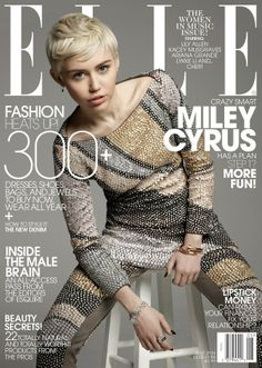 Miley Cyrus Is ELLE's May Cover Girl