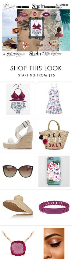 """""""sheln_bathsuit"""" by dandansweet ❤ liked on Polyvore featuring Hollister Co., Charlotte Russe, Sundry, Linda Farrow, Lola, Marc by Marc Jacobs and Kristin Ess"""