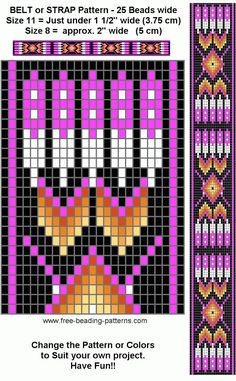 Bilderesultat for Native American Loom Beading Patterns Free Beading Patterns Free, Seed Bead Patterns, Peyote Patterns, Weaving Patterns, Doily Patterns, Beading Ideas, Beading Supplies, Dress Patterns, Native American Patterns