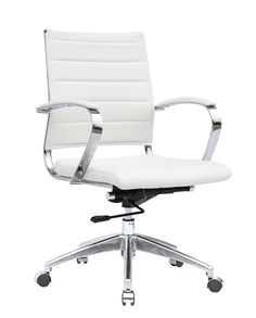 Modern Conference Office Chair Mid Back White