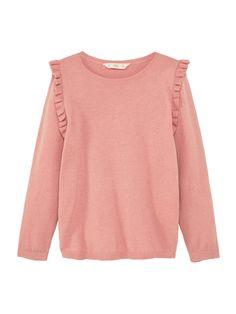 Mango Girls Ruffled Cotton Sweatshirt