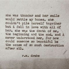 Love R.M. Drake. #soulspeak