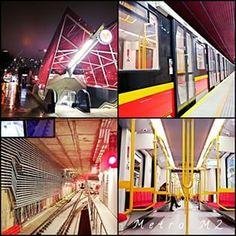 #Metro - linia M2 wieczorową porą. Przejazd całą linią zajmuje 10 min ...