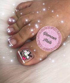 Pedicure Nail Art, Toe Nail Art, French Toe Nails, Nail Art For Kids, Blue Toes, La Nails, Glamour Nails, Magic Nails, Toe Nail Designs