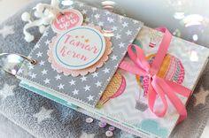 Baby Girl Mini Scrapbook Album, Customized Baby Scrapbooking, Blank Scrapbook Album With Stars, Handmade Baby Girl Photo Album