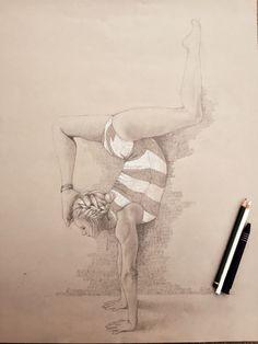 A drawing of me doing gymnastics.