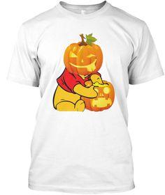 Halloween White T-Shirt Front