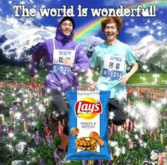 too funny.... Mir's waffurs and Onew's chicken