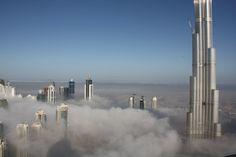 Dubai, in fog.
