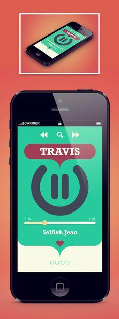 Music App by Cenk YILMAZ (via Dribbble)