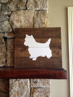 Westie Silhouette Reclaimed Wood Sign I love by elhdesign77