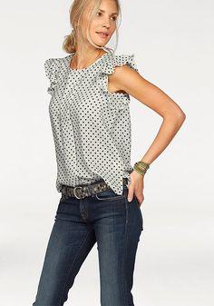 Top Polka Dot Top, Spring, Tops, Women, Fashion, Moda, Fashion Styles, Fashion Illustrations, Woman