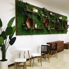 Kardashian Home Interior 33 Amazing Living Wall Indoor Decoration Ideas - For the indoor beauty of natural living wall system, also called a green wall, is becoming quite popular. These walls are vertical structures and are . Moss Wall Art, Moss Art, Green Wall Decor, Painted Wood Walls, Artificial Plant Wall, Vertical Garden Wall, Green Table, Classic Home Decor, Gothic Home Decor