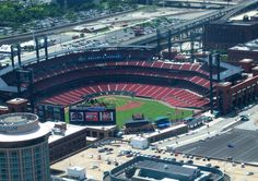 Cardinals Baseball Stadium view from the St. Louis Arch