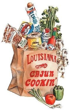 Cookin' Cajun! - Exactly what my grocery bag been lookin like for the past month