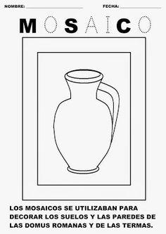 Trabajando con personitas: El Arte en la Antigua Roma: LOS MOSAICOS Romans, Art For Kids, Science, Letters, Inspired, Inspiration, Classical Art, Mural Painting, Roman History