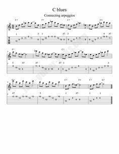 Connecting arpeggios blues - Jazz guitar lesson