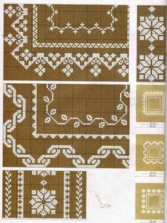 Punto croce - Schemi Gratis e Tutorial: Raccolta di schemi a punto croce monocolore