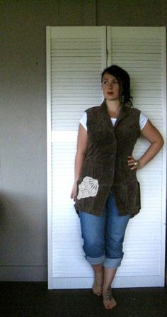 upcycled clothing Artsy Romantic Tattered by lillienoradrygoods, $59.50
