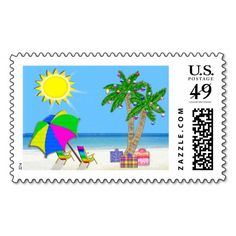 30% Site Wide Use Code: GIFTYOURSELF Ends 12-31-2016 11:59PM PT: Cheerful Christmas Beach Stamps Matching Tropical Christmas Cards. CLICK: http://www.zazzle.com/tropical_stamps_matching_tropical_christmas_cards-172076436202445565?view=113934603008576879&rf=238147997806552929 See more Tropical Beach Themed Gifts Here: http://www.zazzle.com/littlelindapinda/gifts?cg=196208599071599335&rf=238147997806552929
