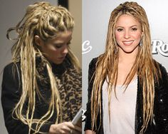 simple dreads. Put dry shampoo on your hair, tease a few pieces and twist them with some gel and set with hairspray