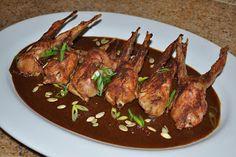 Chef JD's Southwestern Cuisine: Roast Quail and Pipian Mole Sauce with Sun Dried T...