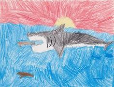Shark ART!This great white looks a bit furry, but such great texture created!