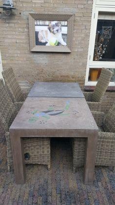 tafels van Burki Design Trocoya met Beal Mortex (Extreem duurzaam MDF met beton ciré)