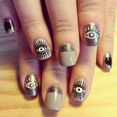 Cute Eye Nails