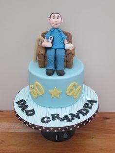 60th Birthday Armchair Cake Design