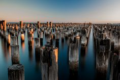 Princes Pier, Port Melbourne, Australia - At Princes Pier you can see the remains of the original pier. This is a beautiful spot to photograph at Visit Australia, Melbourne Australia, Amazing Photography, Travel Photography, Bing Images, Beautiful Pictures, Places To Visit, Around The Worlds, Adventure
