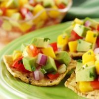 Avocado Mango Salsa. For today's cookout!