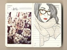 1-2/01/2012 by firstladypatate, via Flickr / moleskine / drawing / art / fashion