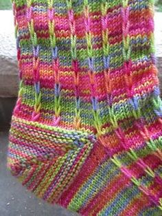 Crochet Patterns Ravelry Dalekanium by Dena Stelly ~ Very effective slipped stitch pattern in three adult… Knitting Stitches, Knitting Socks, Hand Knitting, Knitting Patterns, Crochet Patterns, Crochet Socks, Knit Or Crochet, Knit Socks, Yarn Projects