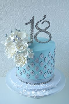 Celebration Cakes — Sweet Little Morsels, LLC 18th Birthday Cake, Cool Birthday Cakes, Birthday Ideas, Fondant Cakes, Cupcake Cakes, Cupcakes, Drip Cake Recipes, Cakes By Stephanie, Single Tier Cake