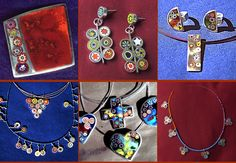 NEVER use Millefiori aimlessly. Put the millefiori into patterns, or put the individual particles in silver frames and mount them in a necklace